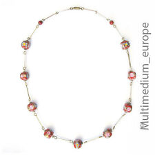 alte Murano Glas Hals Kette Murinen rot 70er Jahre old red glass necklace rare