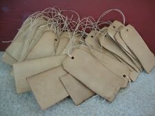 """100 blank coffee stained hang tags, 4 3/4"""" x 2 3/8"""""""