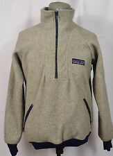 VTG Patagonia Big Logo Fleece Sweater Jacket 1/2 1/4 Zip Synchilla Rare Large