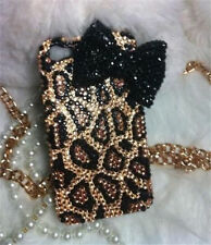 3D Bling handmade leopard Bow diamond Case cover skin for iPhone 6 plus /5.5 @