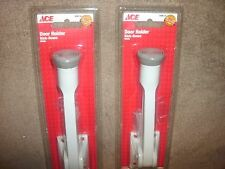 """Lot of 2 NEW ACE Hardware White 5"""" KICK-DOWN DOOR HOLDERS"""