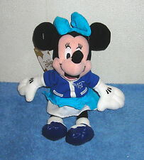 "DISNEY STORE EXCLUSIVE MINNIE MOUSE LETTERMAN CLASS OF '01 8"" BEAN BAG PLUSH"