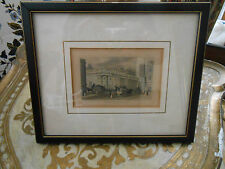 Antique Engraving, Bank of England, London..C 1840...hand colored.