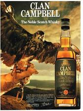 PUBLICITE ADVERTISING   1986  CLAN CAMBELL the noble scotch whisky