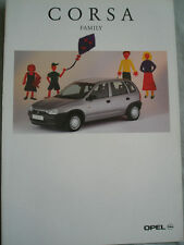 Opel Corsa Family brochure Apr 1996 German text