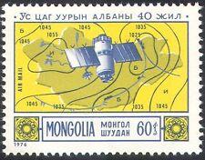 """Mongolia 1976 clima/Meteorología/espacio/""""Molniya """"satélite/mapas 1v (n11685)"""