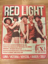 F(X) - RED LIGHT (TYPE B) [ORIGINAL POSTER] *NEW* K-POP FX