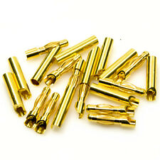 10set  RC 4mm 4.0mm Gold Banana Bullet Connector Plug