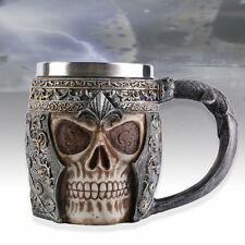 Sea Rover Skull Mug Gothic Helmet Drinkware Vessel Knight Mug Water Bottle OE
