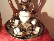 Stunning Antique Haviland Limoges Cobalt Chocolate Tea Set Service Circa 1903
