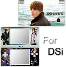 Justin Bieber SKIN VINYL STICKER COVER for Nintendo DSi