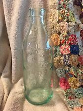 Vintage Made in Italy Absolutely Pure Milk Bottle With Embossed Cow