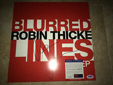 Robin Thicke Signed Blurred Lines Album Cover EP Vinyl Brand New Star PSA/DNA