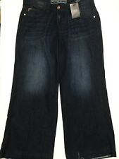 New next Cropped Wideleg Jeans Size Uk 8 Inside Leg 23.5""