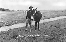 BR11836 animals animaux France annes donkey   france  real photo