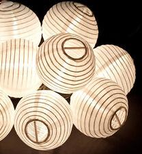 Chinese Lantern LED Solar String Lights (20, Pure White), solar garden light