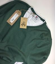 Black Fleece Brooks Brothers by Thom Browne Green Sweater Size BB3  L MSRP $400