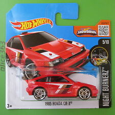 Hot Wheels 2016 - 1985 Honda CR-X-Night burnerz - 85-nuevo en caja original