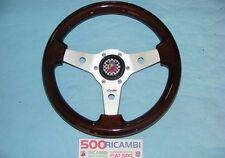 FIAT 500 F/L/R VOLANTE LUISI SPORTIVO IN RADICA DI LEGNO + CLACSON ABARTH Ø 31