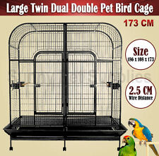 Top Quality Large Dual Double Pet Bird Cage Parrot Cockatoo Twin Aviary 173CM