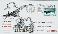 FDC-SPERSONIC CONCORDE-THE ANGLO-FRENCH-1er ANNIVERAIRE-2 MARS 1970