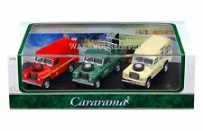 CARARAMA 1:72 3PCS CARS SET LAND ROVER WITH ACRYLIC CASE DIECAST 71311