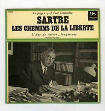 JEAN PAUL SARTRE LES CHEMINS DE LA LIBERTE (ENCYCLOPEDIE SONORE)