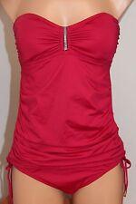 NWT Calvin Klein Swimsuit Bikini 2 pc Set Sz XL Strawberry Tankini  Strap