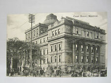 CPA ANCIENNE CARTE POSTALE ANIMEE POST CARD CANADA MONTREAL COURT HOUSE 1900