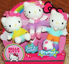 HELLO KITTY Mini Plush Dolls - DREAMS includes Baker, Ballerina & Soccer Star 3