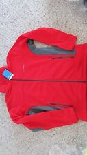 NEW COLUMBIA WESTBANK HYBRID FLEECE JACKET MENS M RED/CHARCOAL FREE SHIP