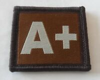 Desert Velcro Blood Group Patch, Badge, Tan, Army, A+, Military, Velcro Backed