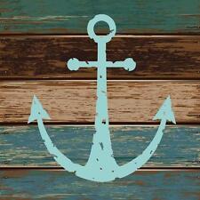 Mar Azul Ancla de barcos Baño Cortina de ducha Ganchos de poliéster 180cm X 180cm