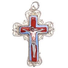 Pendentif Croix Orthodoxe émaillée, Cadeau Pâques CROIX Orthodoxe émaillée