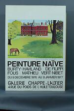 Affiche de Filippi Naïf Imprimerie Petit Toulouse 1976 exposition DÉDICACE