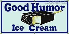 GOOD HUMOR ICE CREAM OLD SCHOOL VINTAGE SIGN REMAKE BANNER SHOP GARAGE ART 2 X 4