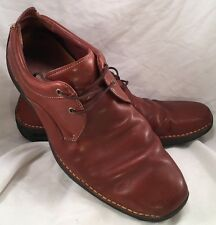 Cole Haan Nike Air Men's Light Brown Blucher Leather 2 Eyelet Casual Sz 10M