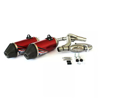 HGS MARMITTA SCARICO COMPLETO ROSSO HONDA CRF 250 R 2016-2017 EXHAUST SYSTEM RED