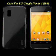 Clear Crystal Glossy Transparent Hard Plastic Case Cover For LG Google Nexus 4 A