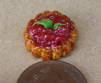 1:12 Red Currant Fruit Flan Tart Dolls House Miniature Food Cake Accessory LSc