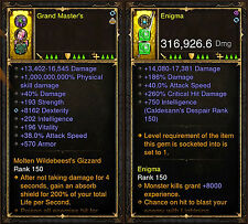Diablo 3 RoS PS4 [HARDCORE] Patch 2.5 Modded Weapon & Ring Bundle!
