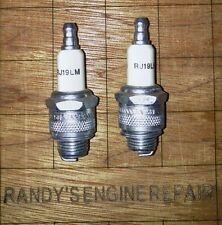 CHAMPION RJ19LM Spark Plug Set of (2) 802592 US Seller