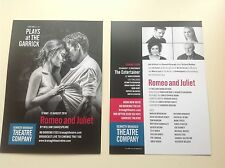 2 x Flyer ROMEO AND JULIET Kenneth Branagh Plays at the Garrick NEW 2016