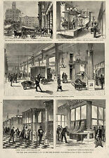 SCENES IN 1875 NEW YORK CITY POST OFFICE Mail Elevators Foreign Mail Wagon Horse