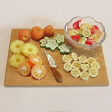 Fruit Salad Prep Board ~ Doll House Miniature ~ 1/12 scale