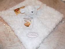 SECURITY BEAR BLANKET BEYOND WHITE ROSETTE FAUX FUR CHRISTENING BLESS THIS BABY