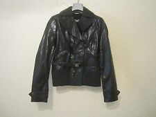 D&G Dolce&Gabbana Women's Double Breasted Leather Jacket