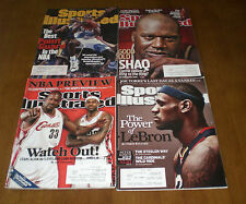 4 CLEVELAND CAVALIERS SPORTS ILLUSTRATED - LEBRON JAMES - SHAQ - TERRELL BRANDON
