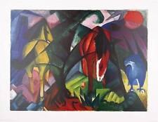 Franz Marc Pferde und Adler Poster Bild Kunstdruck 70x90cm - Kostenloser Versand