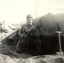 WWII Original Army Large RP- Soldier- Tent- Bunker- Shovel- Rifle- M1 Carbine